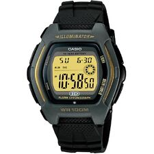 Casio HDD-600G-9AV Black Silver Gold Tone Illuminator Digital Watch Box Included