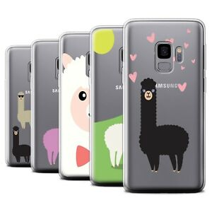 STUFF4 Gel/TPU Case/Cover for Samsung Galaxy S9/G960/Cute Alpaca
