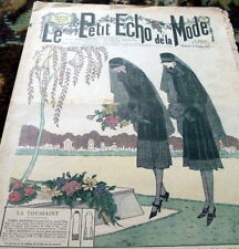 *VTG 1920s PARIS FASHION & SEWING PATTERN CATALOG LE PETIT ECHO de la MODE 1926