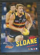 RORY SLOANE ADELAIDE CROWS HAND SIGNED AFL 2017 VERTIRAMIC PLAYER OFFICIAL PRINT