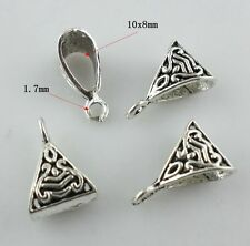 20pcs Tibetan Silver Connectors Bails Crafts Charms Beads 6x10x15mm for Jewelry
