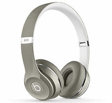 Beats Solo 2 Luxe Edition Wired Headphones Silver / Foldable Compact Lightweight