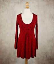 East Red Floral Pattern Top Dress Size UK 12 Long Sleeve