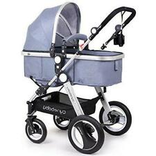 Infant Toddler Baby Stroller Carriage Cynebaby Compact Pram Strollers(Blue)
