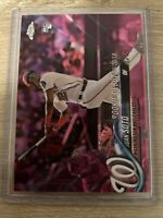 2018 Topps Chrome Update HMT98 JUAN SOTO Rookie RC Pink Refractor Nationals Mint