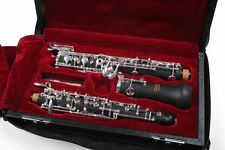 Oboe (halbautomatisches System) Ebonit, versilberte Mechanik, mit Tasche & Rohr