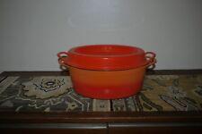 Vintage Retro 30 cm Cousances Oval DOUFEU Heavy Duty Cast Iron Flame Orange