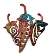 IRON ON PATCH SOUTHWESTERN CHILI PEPPER  2 3/4 X 3 inch