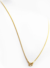 "Thin 22k 22kt gold double rolo link necklace Thailand 18"" #B3"