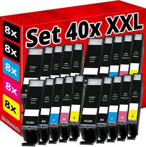 40 TINTEPATRONEN für CANON PIXMA IP7250 MG5450 MG5550 MG6450 MG6650 MG7550 MX925