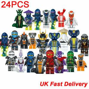 Set of 24 Pcs Ninjago Mini Figures Kai Jay Minfigures Building Blocks Toys Gift