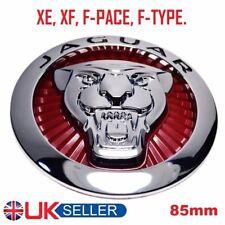 ⭐ JAGUAR Growler griglia Badge emblema Rosso 85mm XE & XF, F-Type, F-RITMO ⭐