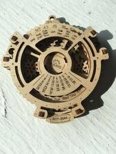 Ugears mechanical wooden model calendar navigator dates already assembled