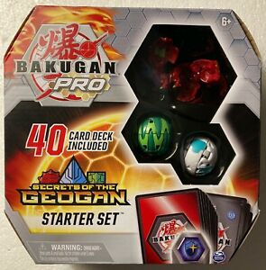 NEW Bakugan Pro SECRETS OF THE GEOGAN Starter Set FENNECA ULTRA w/40 Cards+more
