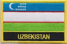 Uzbekistan Flag Embroidered Patch Badge - Sew or Iron on