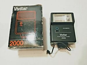 *100% WORKING* VIVITAR 2000 ELECTRONIC CAMERA FLASH UNIVERSAL FITS MOST 35mm SLR