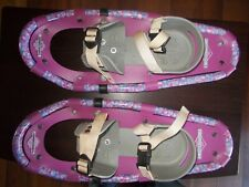 Kids L.L. Bean Snow Shoes Winter Walker Youth 19 inches Pink,Purple,Blue