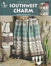 Southwest Charm Crochet Patterns Afghan Basket+ Marilyn Mezer Annie's Attic NEW