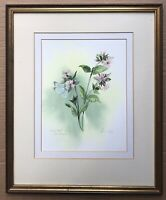 Original Art Watercolour Painting Butterfly On Red Campion Flowers By Ann Lister