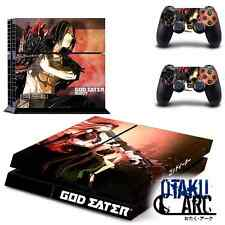 PS4 Skin - God Eater Ressurection - Playstation 4 Console+2 Controllers Skin set
