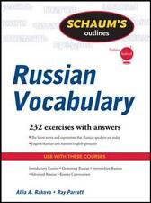 Schaum's Outline of Russian Vocabulary (Schaum's Outline Series), Alfia Rakova,