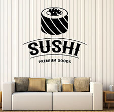 Wall Vinyl Decal Sushi Premium Goods Restaurant Japanese Cuisine Decor z4835