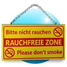 Schild Spruch Wandhänger Holz Schilder Sprüche Bitte nicht rauchen Rauchfreie