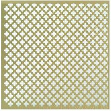 Cloverleaf Aluminum Perforated Sheet Brass Craft Hobby Metal Decor