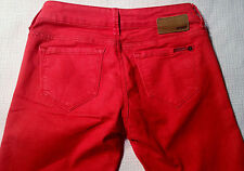 EUC - RRP $299 - Womens Stunning MAVI Stretch 'SERENA' Low Rise Skinny Red Jeans