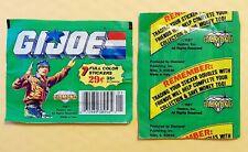 Lot of 10: 1986 GI JOE STICKER PACKS (UNOPENED/SEALED) DIAMOND PANINI VERY RARE!