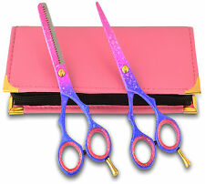 Pink Giftset Hairdressing Scissors & Thinning Shears Stainless Steel 5.5