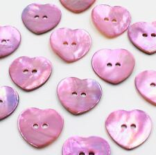 Lot 10 20mm 32L Natural Pink Heart Real Pearl Shell Button Crafts Japan Card Art