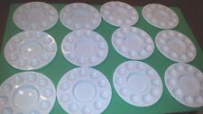 "LOT of 12  ARTIST PAINTER PLASTIC PAINT PALETTES 6 3/4"" PAINT CIRCLE TRAYS"