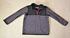 Jumping Beans Girls Youth Quarter Zip - Size 4T - Black & Gray with Red Zipper