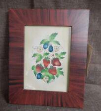 "Rosier Period Art, Strawberries and Black Raspberries, 8"" x 10"", 1992 Signed, #1"