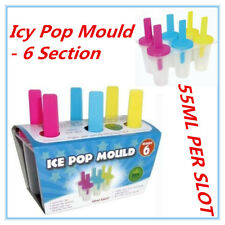 6 Section Icy Pop Mould Cream Block Molds Icy Pole Jelly Pop Maker Cream BPAFree