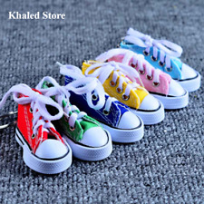Keychain Mini Canvas Sneaker Tennis Shoes Blue Pink Black White Sports Funy Gift