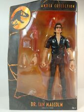 "Dr. Ian Malcolm - Jurassic Park Amber Collection Action Figure 6"" - Mattel"