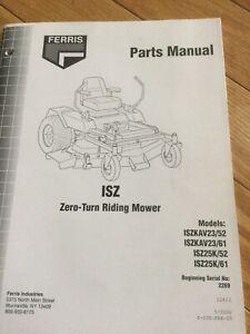 Ferris ISZ Zero Turn Mower Parts Manual