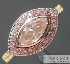 .53ct Brown Pink SI1 Marquise Diamond Ring R8196 Diamonds By Lauren