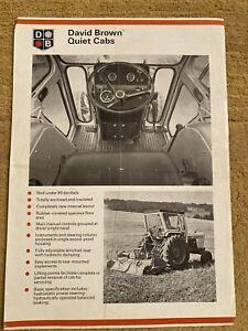 David Brown Case Quiet Cab Brochure Leaflet 885 990 995 996 1210 1212 1410 1412