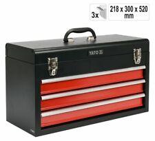 Werkstattkoffer mit 3 Schubladen Werkzeugkoffer Werkzeugkiste Werkzeugbox