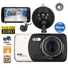 "HD 4"" 1080P Car DVR Dual Lens Camera Video Recorder Rearview Dash Cam G-sensor"