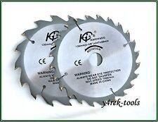 Due (2) LAME 136mm x 20 / 16mm X 16T e 24T WOOD Cutting BLADE-Pack di Tween