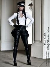 Lederhose Leder Hose Breeches Schwarz Maßanfertigung
