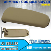 Leather Armrest Center Box Console Lid Cover for 2004-08 Audi A4 B7 Beige Color