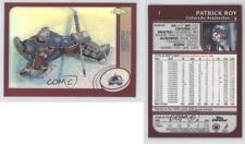 2002-03 Topps Chrome Refractor #1 Patrick Roy Colorado Avalanche Hockey Card