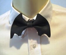 Bat Bow Tie Leather Adjustable strap One Size fits all Gothic