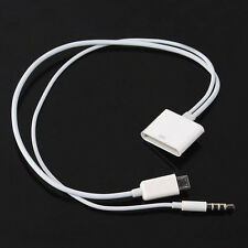 New Micro USB to 30 Pin For iPhone 4S 4 Speaker Dock 3.5mm Audio Adapter