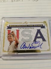 Abby Wambach Leaf USA Thick Card Autograph 5/5 Auto Remembering The Game Olympic
